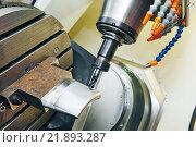 Купить «industrial cnc metalwork detail machining», фото № 21893287, снято 26 мая 2015 г. (c) Дмитрий Калиновский / Фотобанк Лори