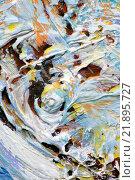 Купить «Фактура краски - пастоз», фото № 21895727, снято 12 ноября 2014 г. (c) Elizaveta Kharicheva / Фотобанк Лори