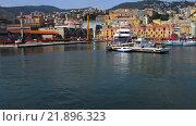 Купить «Port of Genoa on Mediterranean Sea», видеоролик № 21896323, снято 19 ноября 2015 г. (c) BestPhotoStudio / Фотобанк Лори