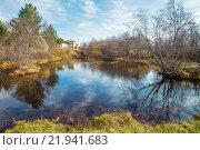 Теплый сентябрьский день на реке. Стоковое фото, фотограф Виктор Воинков / Фотобанк Лори