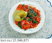 Купить «Stuffed aubergines, peppers and tomatoes», фото № 21946871, снято 22 июля 2019 г. (c) easy Fotostock / Фотобанк Лори