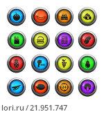 Купить «Grocery simply icons», иллюстрация № 21951747 (c) PantherMedia / Фотобанк Лори