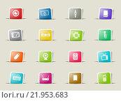 Купить «Gadgets simply icons», иллюстрация № 21953683 (c) PantherMedia / Фотобанк Лори