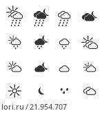 Купить «Weather simply icons», иллюстрация № 21954707 (c) PantherMedia / Фотобанк Лори