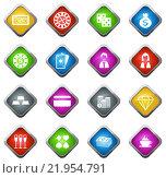 Купить «Casino icons set», иллюстрация № 21954791 (c) PantherMedia / Фотобанк Лори