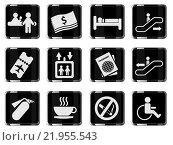 Купить «Airport icons», иллюстрация № 21955543 (c) PantherMedia / Фотобанк Лори
