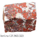 red jasper mineral stone isolated on white. Стоковое фото, фотограф Valery Vvoennyy / PantherMedia / Фотобанк Лори