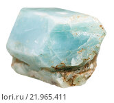 Купить «crystal of apatite gem stone isolated on white», фото № 21965411, снято 8 декабря 2019 г. (c) PantherMedia / Фотобанк Лори