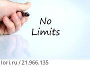 Купить «No limits text concept», фото № 21966135, снято 18 июля 2018 г. (c) PantherMedia / Фотобанк Лори
