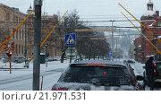 Купить «Пересечение железной дороги в Sundsval, зима, Швеция», видеоролик № 21971531, снято 17 июля 2019 г. (c) Павел Котельников / Фотобанк Лори
