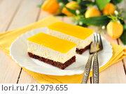 Купить «Апельсиновый торт маскарпоне», фото № 21979655, снято 24 февраля 2013 г. (c) Татьяна Ворона / Фотобанк Лори