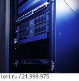 Серверная стойка. Стоковое фото, фотограф Тимофеев Владимир / Фотобанк Лори