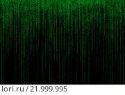 Зеленый двоичный код на черном фоне. Стоковая иллюстрация, иллюстратор Тимофеев Владимир / Фотобанк Лори