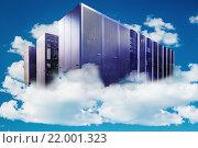 Серверные стойки среди облаков - концепция облачных вычислений. Стоковое фото, фотограф Тимофеев Владимир / Фотобанк Лори