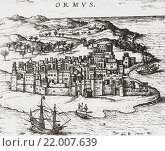 Купить «View of The Kingdom of Ormus, aka Ohrmuzd, Hormuz, and Ohrmazd. After the engraving from H. Braun's Civitates Orbis Terrarum, 1588-1594. From British Merchant Adventurers, published 1942.», фото № 22007639, снято 18 января 2019 г. (c) age Fotostock / Фотобанк Лори