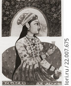 "Купить «Reputed portrait of Nur Jahan, 1577 â. "" 1645, born as Mehr-un-Nissa. Empress of the Mughal Empire as the chief consort of Emperor Jahangir. From British Merchant Adventurers, published 1942.», фото № 22007675, снято 18 января 2019 г. (c) age Fotostock / Фотобанк Лори"