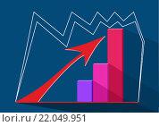 График роста.Вектор. Стоковая иллюстрация, иллюстратор Ира Кураленко / Фотобанк Лори