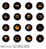 Купить «Billiards simply icons», иллюстрация № 22062203 (c) PantherMedia / Фотобанк Лори