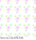 Бесшовный фон со звёздами. Стоковая иллюстрация, иллюстратор Андрей Башкин / Фотобанк Лори