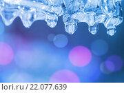 Купить «Весенний фон с сосульками», фото № 22077639, снято 17 октября 2015 г. (c) Икан Леонид / Фотобанк Лори