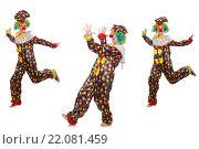 Set of clown photos isolated on white. Стоковое фото, фотограф Elnur / Фотобанк Лори