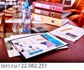 Купить «Business still life on table.», фото № 22082251, снято 25 ноября 2013 г. (c) Gennadiy Poznyakov / Фотобанк Лори
