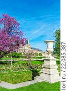 Сад Тюильри весной, Париж, Франция (2011 год). Редакционное фото, фотограф Ростислав Агеев / Фотобанк Лори