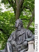 Купить «Fontane-Denkmal in Neuruppin; Memorial of Theodor Fontane», фото № 22107583, снято 20 октября 2019 г. (c) age Fotostock / Фотобанк Лори