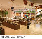 Купить «Интерьер чайного магазина в Пекине. Китай.», эксклюзивное фото № 22110027, снято 15 апреля 2011 г. (c) Владимир Чинин / Фотобанк Лори