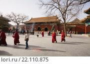 Купить «Ламаистский монастырь в Пекине. Китай.», эксклюзивное фото № 22110875, снято 15 апреля 2011 г. (c) Владимир Чинин / Фотобанк Лори