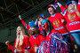 Fans at tribune, фото № 22110935, снято 15 декабря 2015 г. (c) Raev Denis / Фотобанк Лори