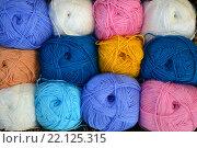 Пряжа для вязания из хлопка разноцветная. Стоковое фото, фотограф Иванна Кошка / Фотобанк Лори