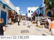Виды красивейшего городка Сиди-Бу-Саид в Тунисе (2012 год). Редакционное фото, фотограф Владимир Чинин / Фотобанк Лори