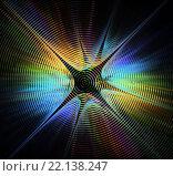 Абстрактная фрактальная звезда. Стоковая иллюстрация, иллюстратор Елена Уткина / Фотобанк Лори