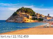 Купить «Tossa de Mar on the Costa Brava, Catalunya, Spain», фото № 22152459, снято 17 января 2019 г. (c) PantherMedia / Фотобанк Лори
