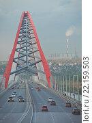 Бугринский мост, Новосибирск (2015 год). Редакционное фото, фотограф Дункель Артем / Фотобанк Лори
