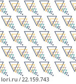 Купить «Seamless Colorful Modern Pattern from Triangle Wires», иллюстрация № 22159743 (c) PantherMedia / Фотобанк Лори