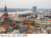 Купить «Вид на Ригу с башни церкви Святого Петра, Рига, Латвия», фото № 22161999, снято 5 марта 2016 г. (c) Мальцев Артур / Фотобанк Лори