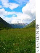 Купить «Гора Гаустатоппен, Норвегия», фото № 22162599, снято 19 июня 2015 г. (c) Любовь Михайлова / Фотобанк Лори