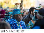 Cabalgata de Reyes Magos in Barcelona (2016 год). Редакционное фото, фотограф Яков Филимонов / Фотобанк Лори