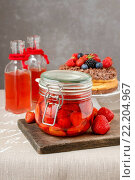 Купить «Strawberry preserves. Healthy fruit dessert», фото № 22204967, снято 11 августа 2018 г. (c) age Fotostock / Фотобанк Лори