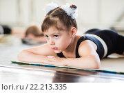 Купить «Девочка занимается хореографией», фото № 22213335, снято 29 мая 2014 г. (c) Ермилова Арина / Фотобанк Лори