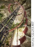 Винтовая лестница. Маяк. Ладожское озеро. Стоковое фото, фотограф Василий Вострухин / Фотобанк Лори