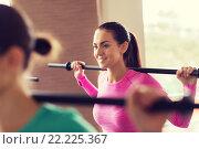 Купить «group of people exercising with bars in gym», фото № 22225367, снято 5 апреля 2015 г. (c) Syda Productions / Фотобанк Лори