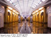 Метро Санкт-Петербурга. Международная. (2016 год). Редакционное фото, фотограф Александр Невский / Фотобанк Лори