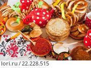Купить «Pancake with red caviar», фото № 22228515, снято 6 марта 2011 г. (c) Яков Филимонов / Фотобанк Лори