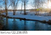 Купить «Солнечный весенний пейзаж в Московской области», фото № 22238055, снято 13 марта 2016 г. (c) Валерий Боярский / Фотобанк Лори