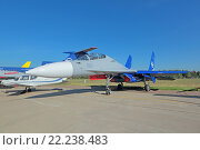 Купить «Международный авиационно-космический салон МАКС-2015. Су-30 ЛЛ - летная лаборатория летно-исследовательского института имени М.М. Громова», фото № 22238483, снято 25 августа 2015 г. (c) Игорь Долгов / Фотобанк Лори
