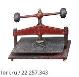 Купить «Old rusty press», фото № 22257343, снято 23 января 2019 г. (c) PantherMedia / Фотобанк Лори