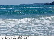 Купить «Sea view from beach.», фото № 22265727, снято 23 июля 2015 г. (c) Юрий Брыкайло / Фотобанк Лори